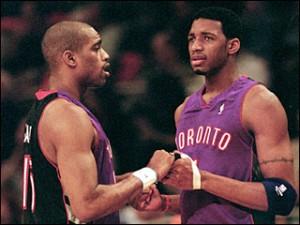 T-Mac e seu Primo Vince Carter quando jogavam e Toronto